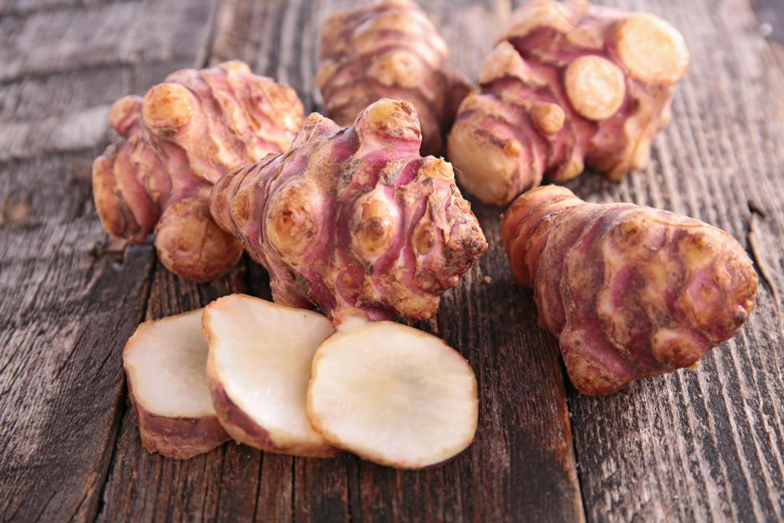 Jerusalem artichokes as prebiotic food for vegans