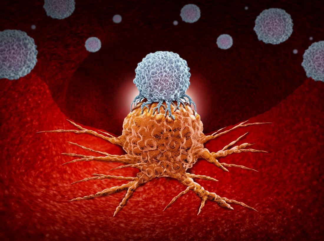 ilustração de células cancerígenas