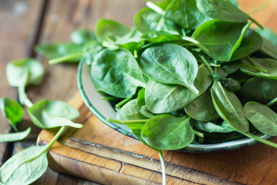 Spinach as one of 15 healthiest vegetables