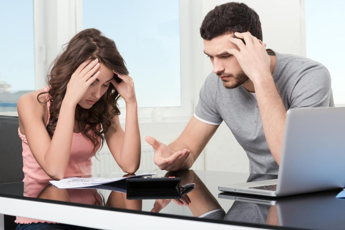 Couple stressed about money