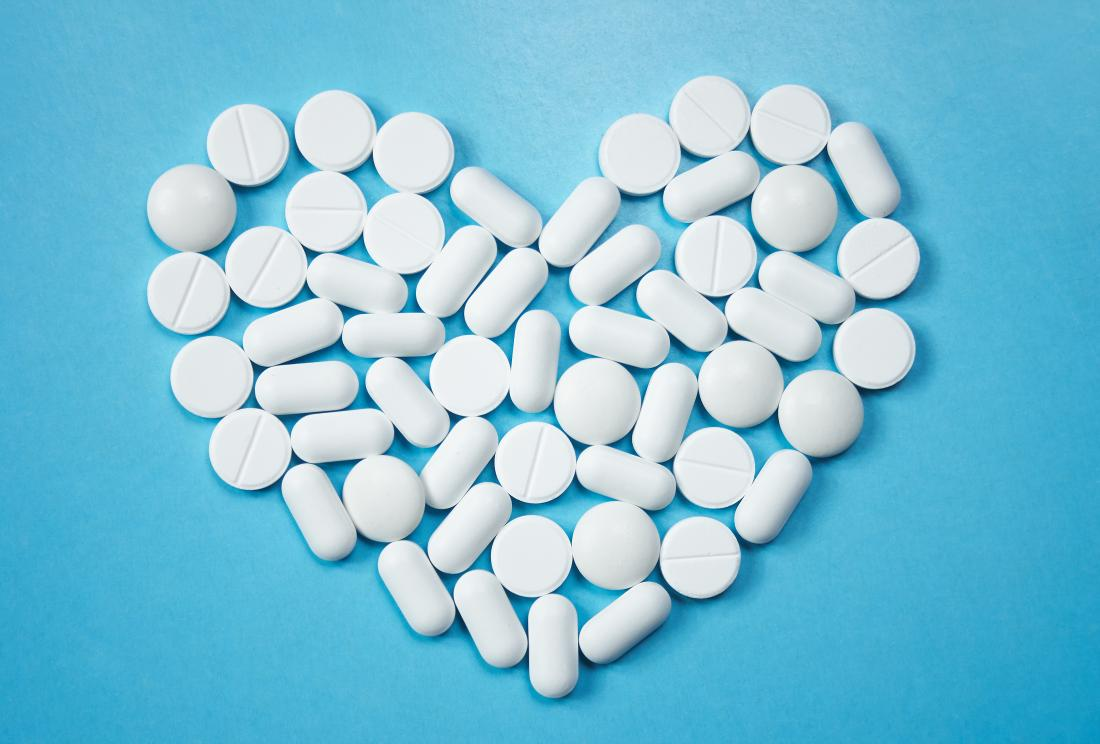 pills in the shape of a heart