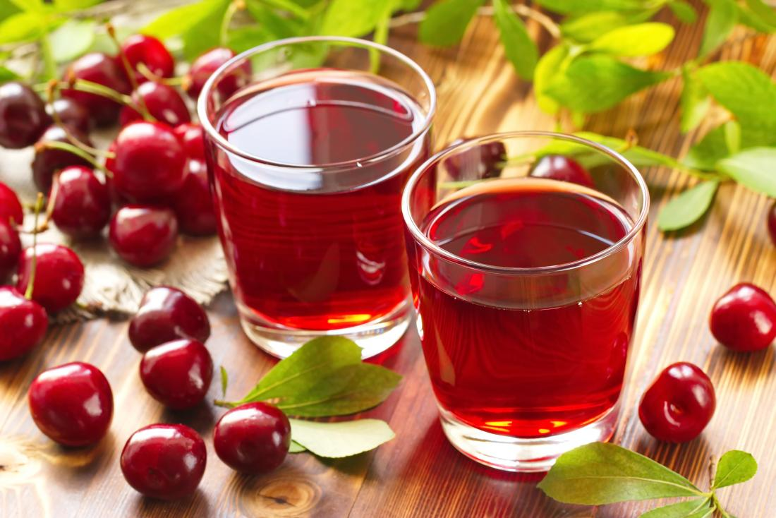 Cherries and cherry juice as natural muscle relaxants