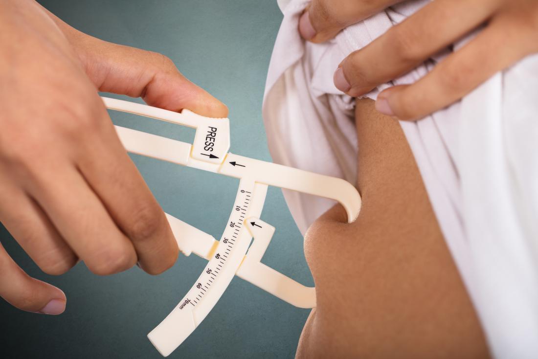 Calipers measure body fat