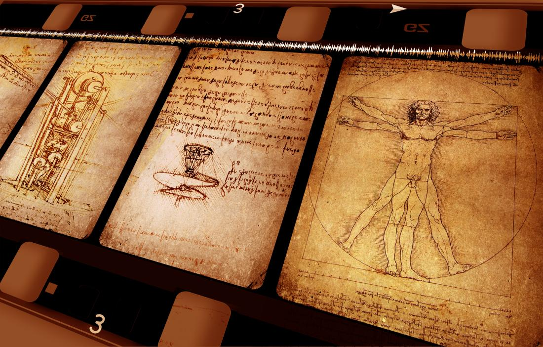 Leonardo da Vinci made technical drawings