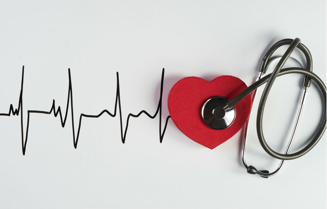 heartbeat illustration with stethoscope