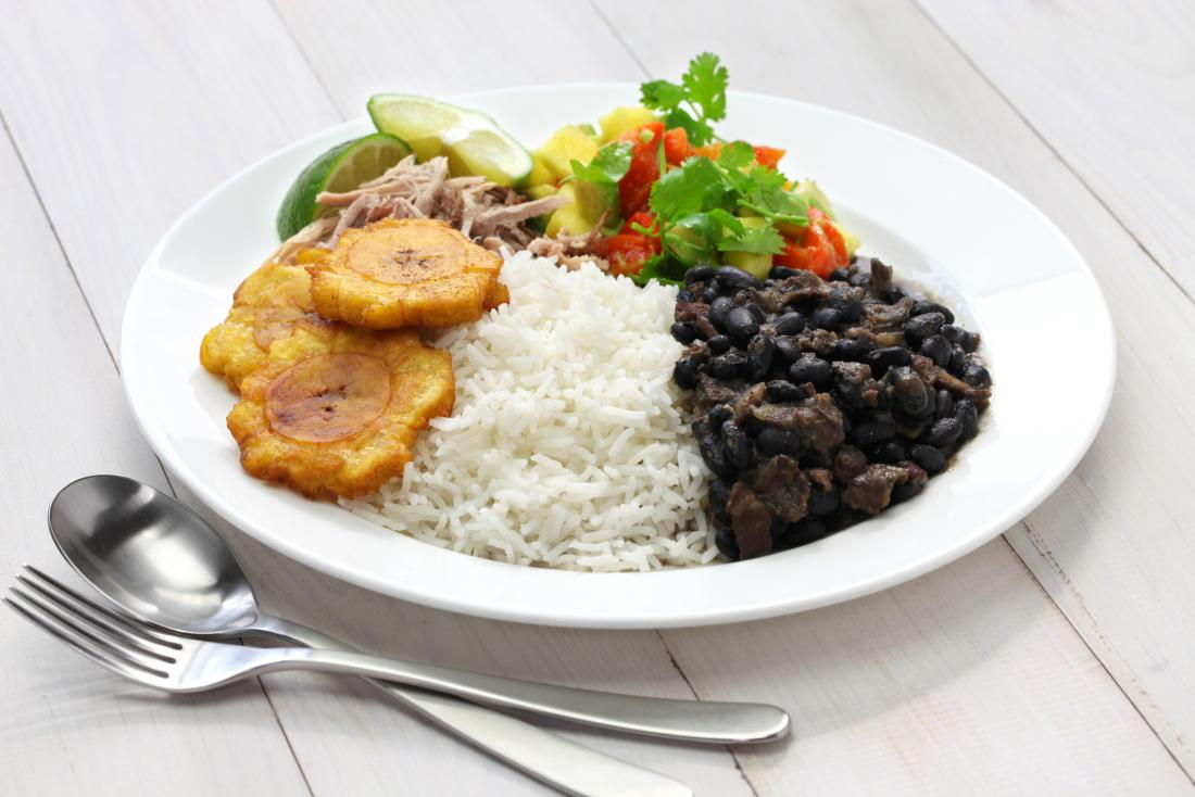 rice plantain and beans