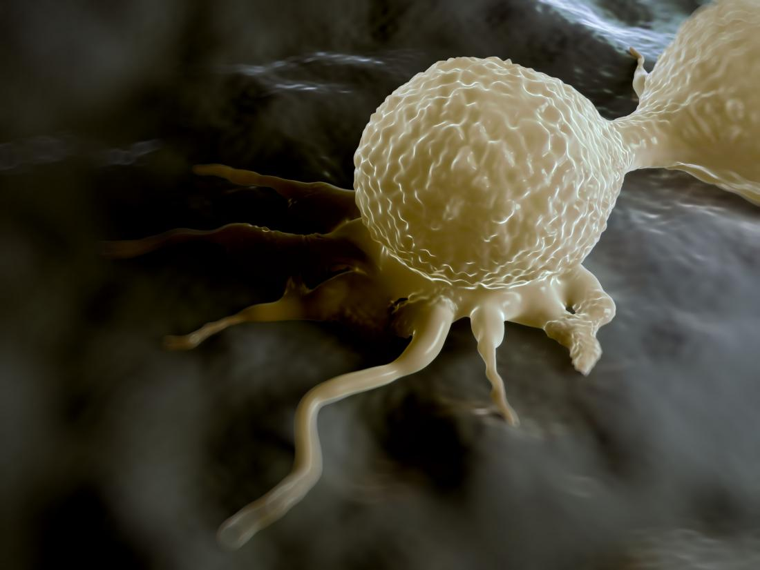 concept illustration of dividing cancer cell
