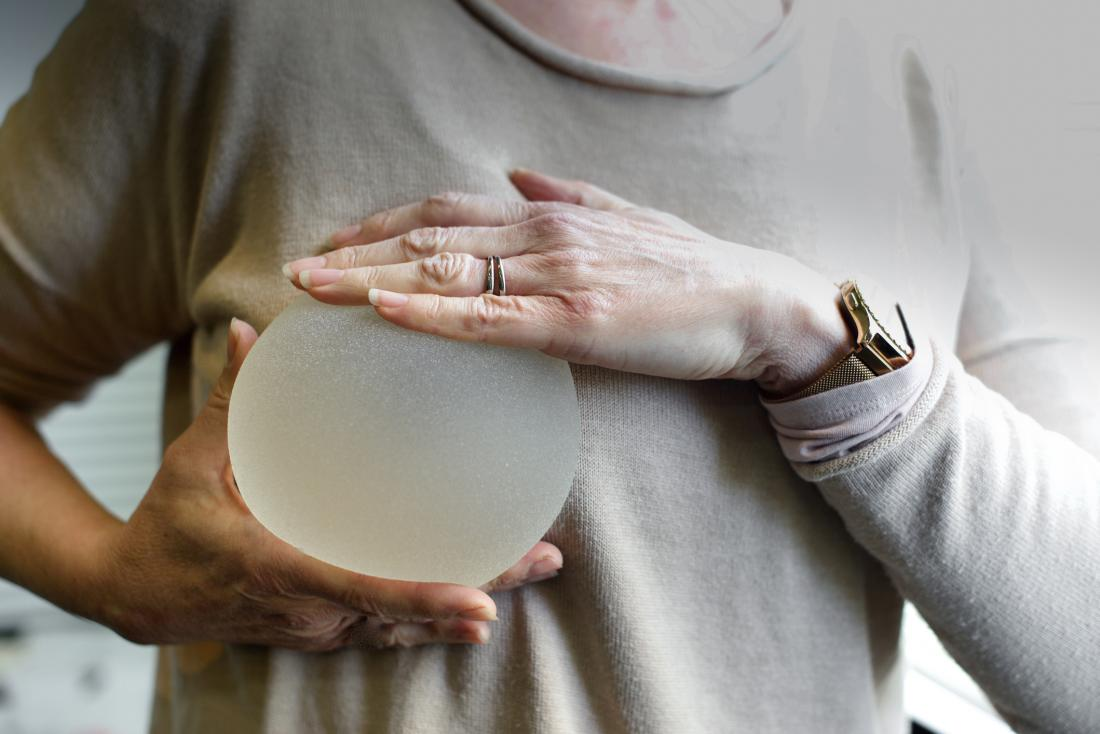 Breast implant displayed