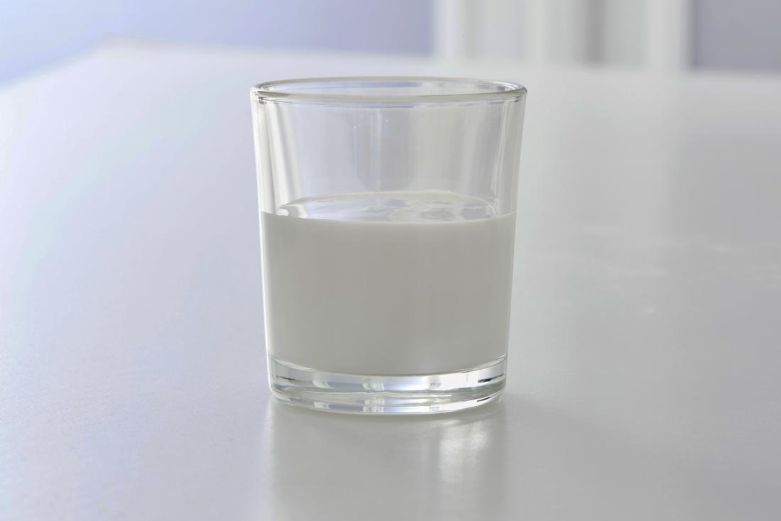 Milk of magnesia in a glass