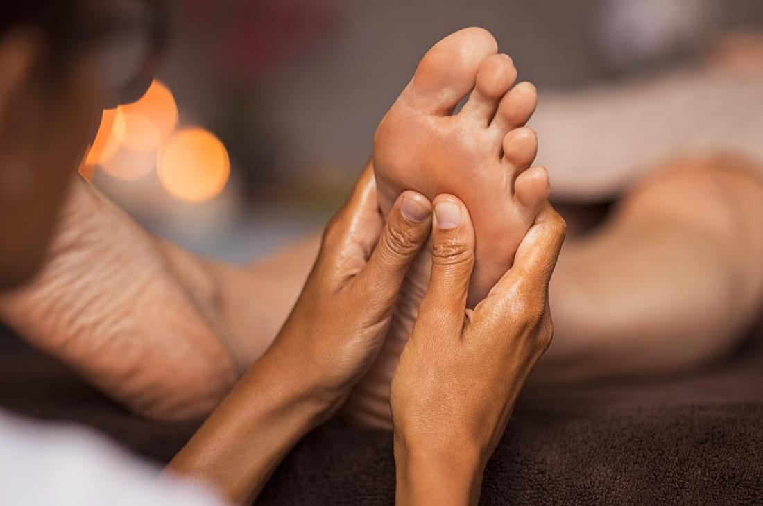 Foot massage - Finishing strokes