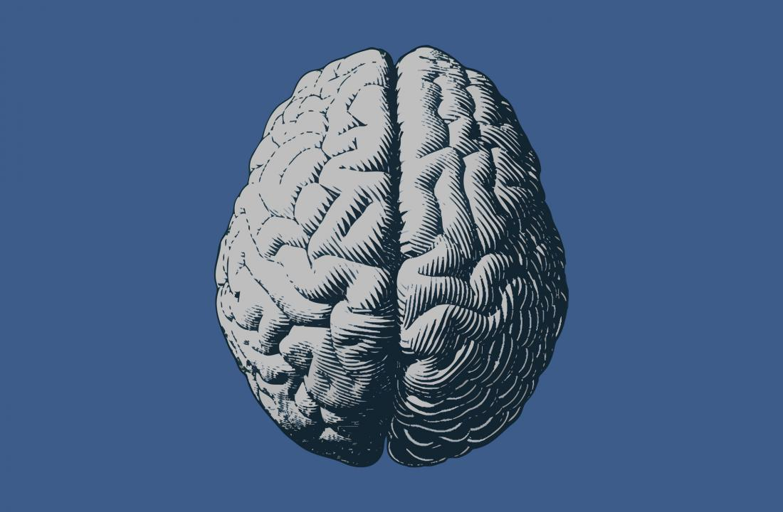 monochrome brain illustration