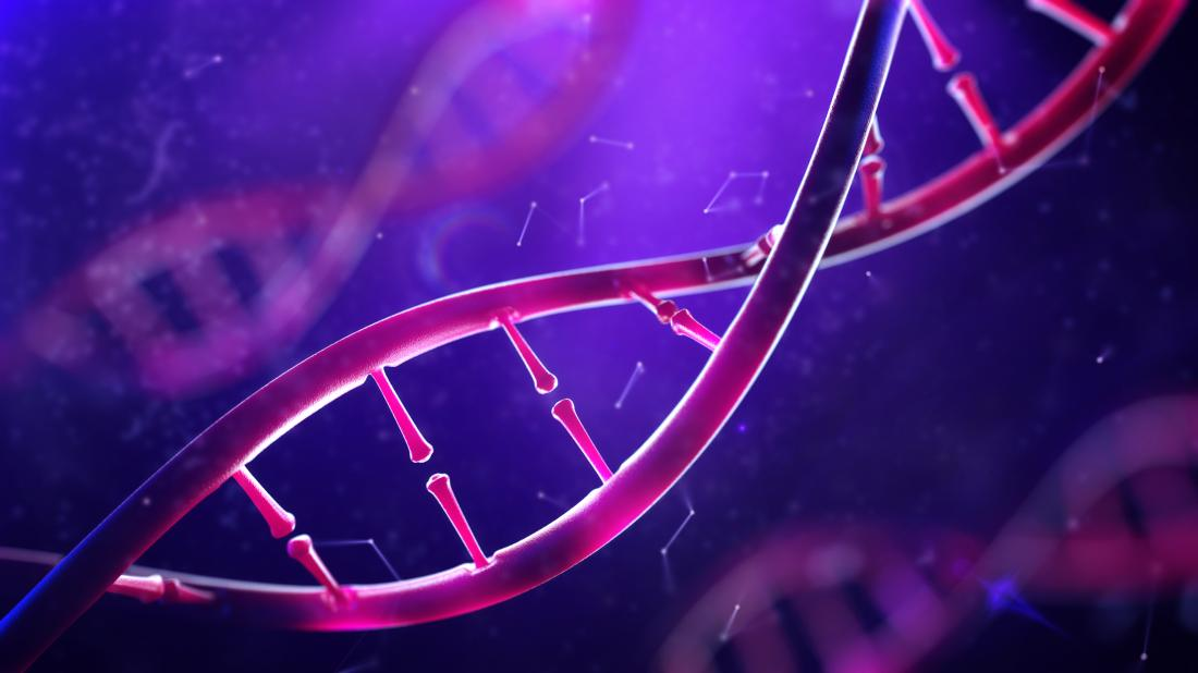 DNA fragment concept image