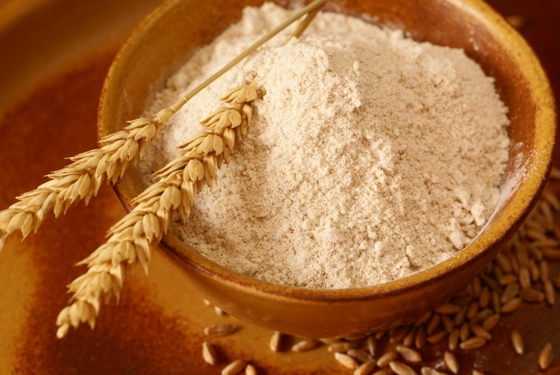 Wheat flour in a bowl