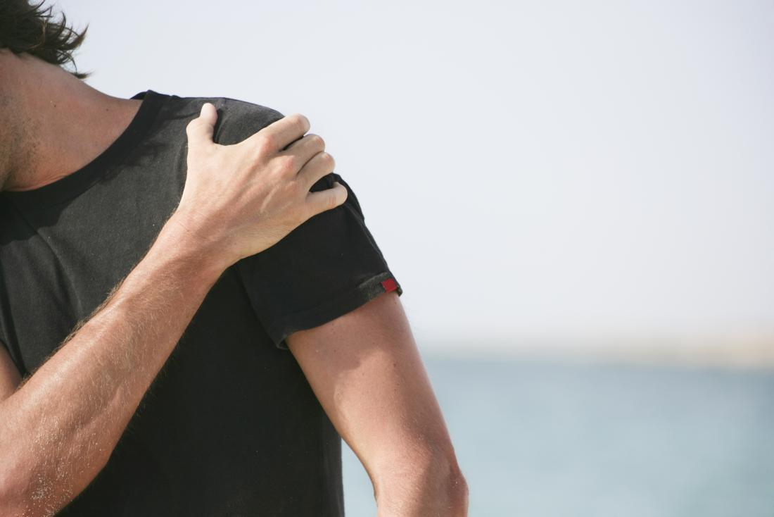 Man with front shoulder pain