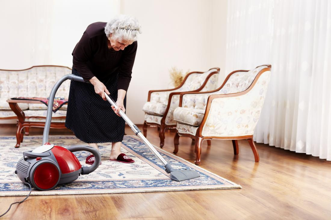 Woman hoovering