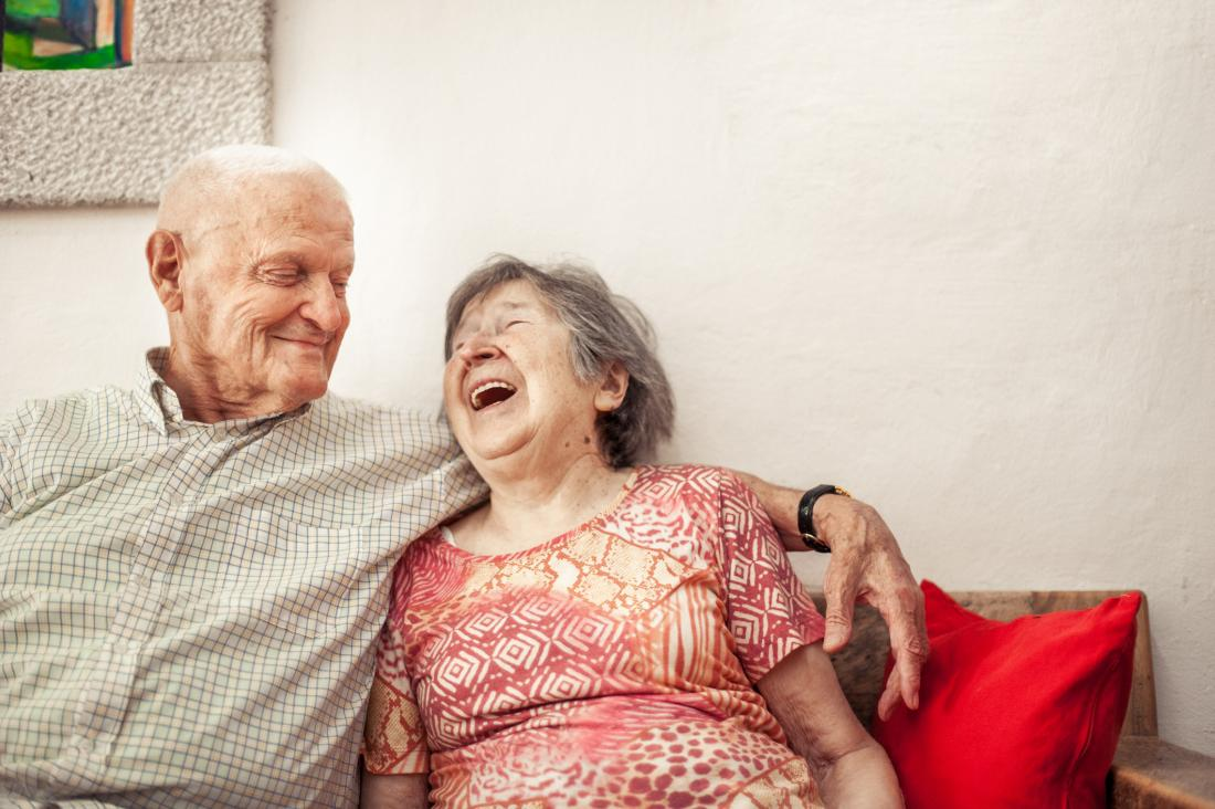 Older adults laughing