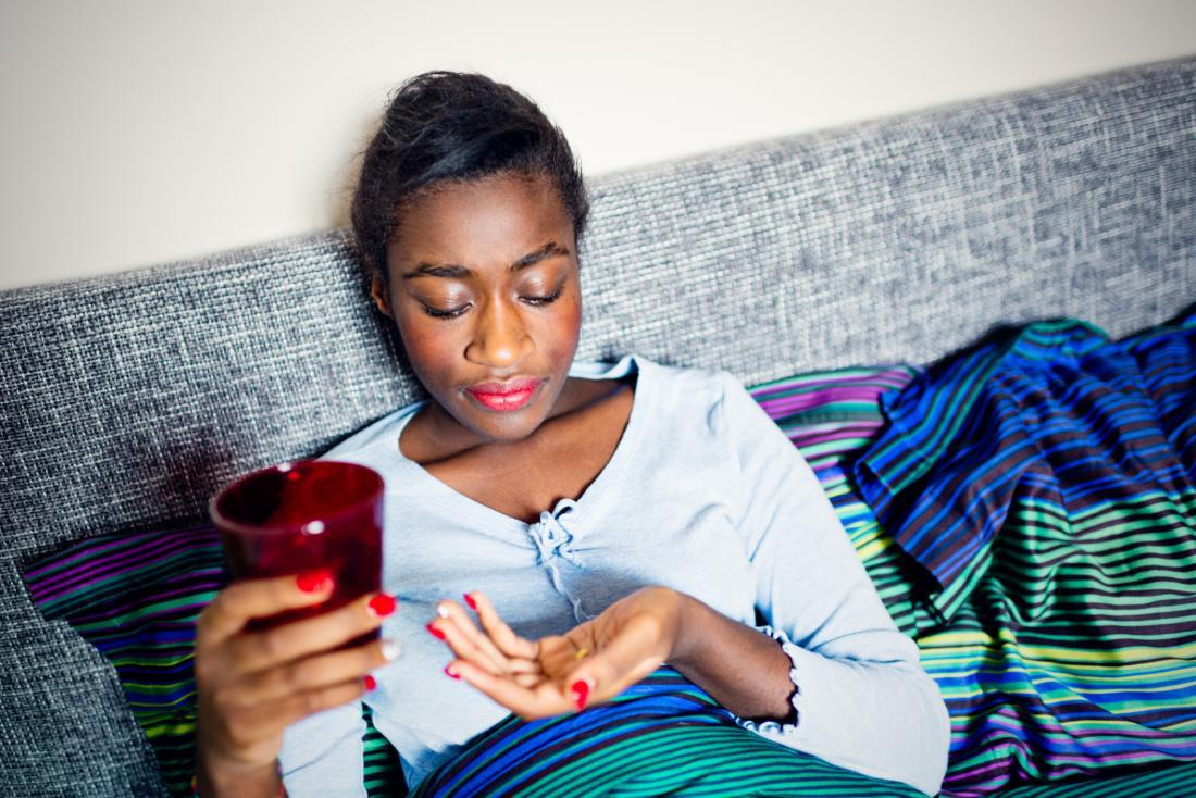 Image result for black girl taking pills