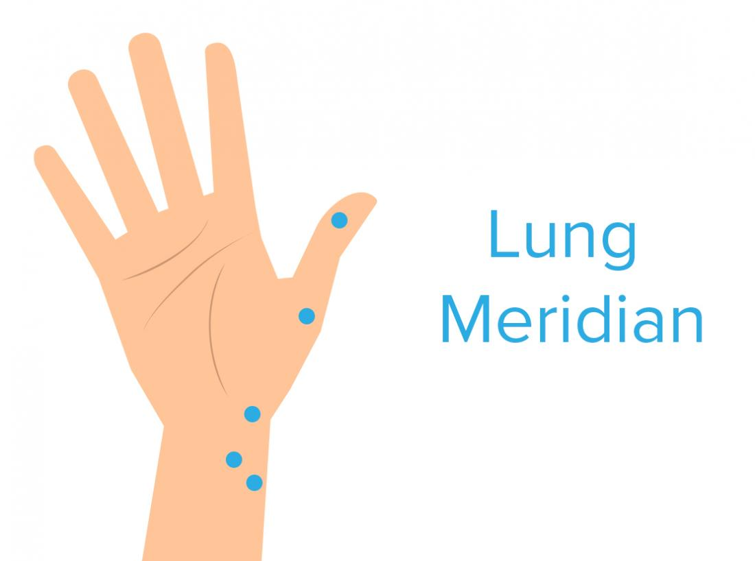 hight resolution of lung meridian pressure point