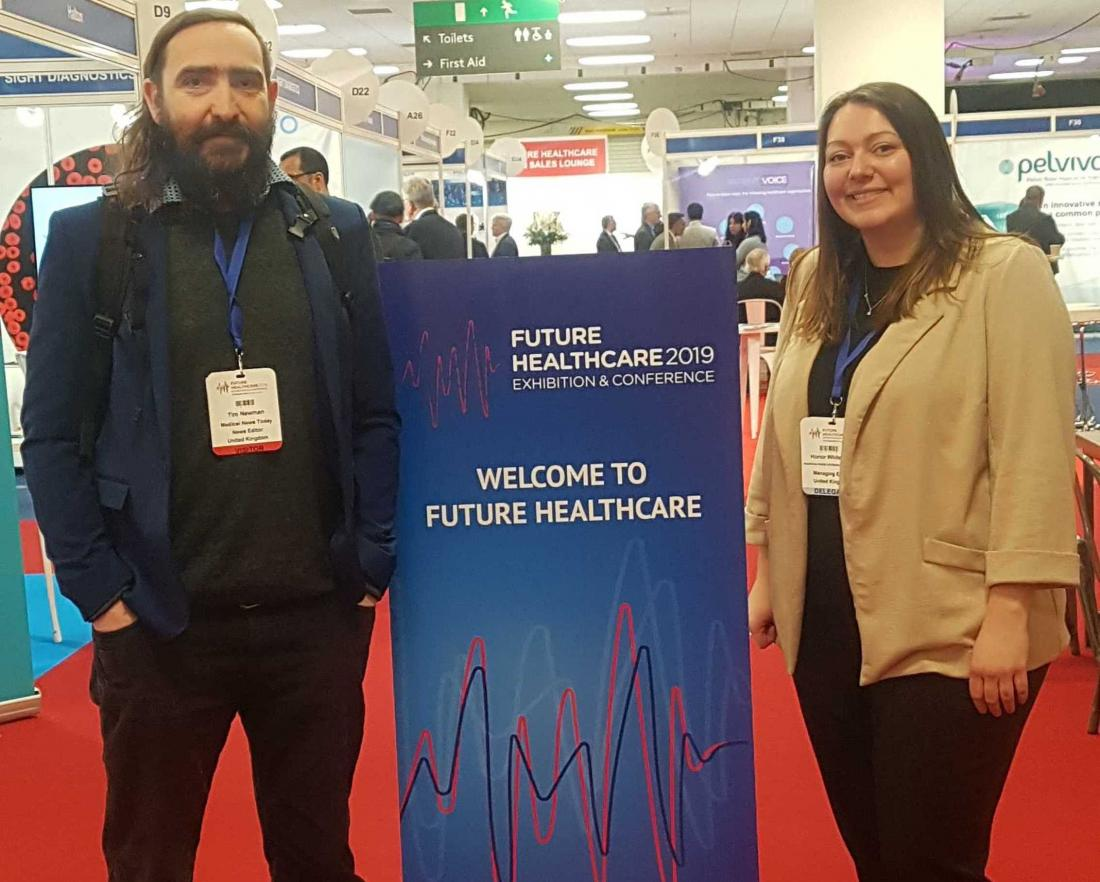 Honor and Tim at Future Healthcare 2019.
