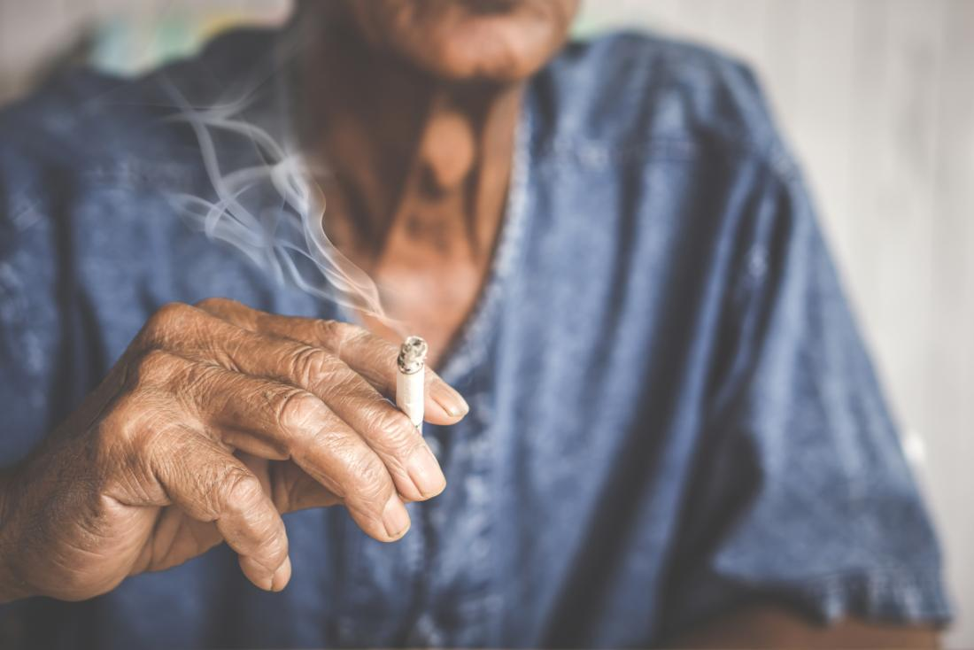 senior smoking