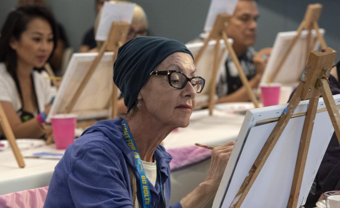 breast cancer survivor painting