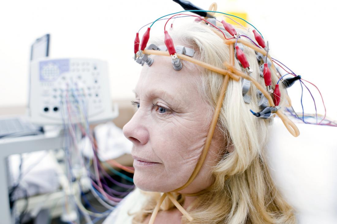 older woman undertaking eeg