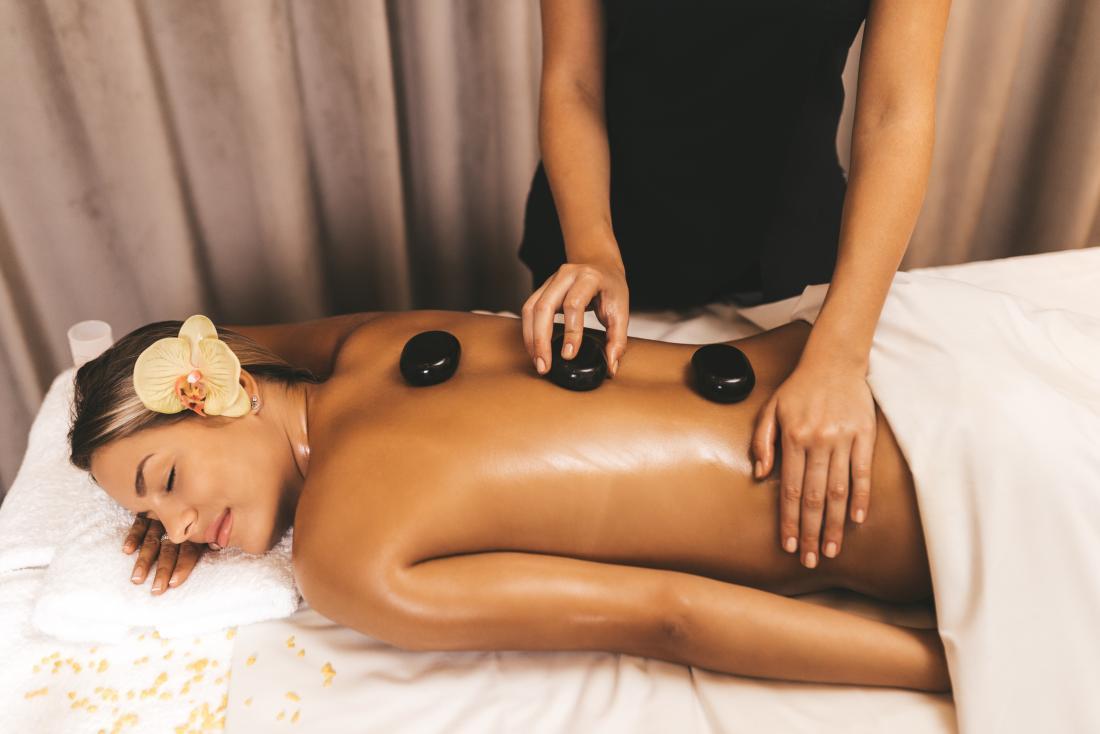 Types of massage hot stone
