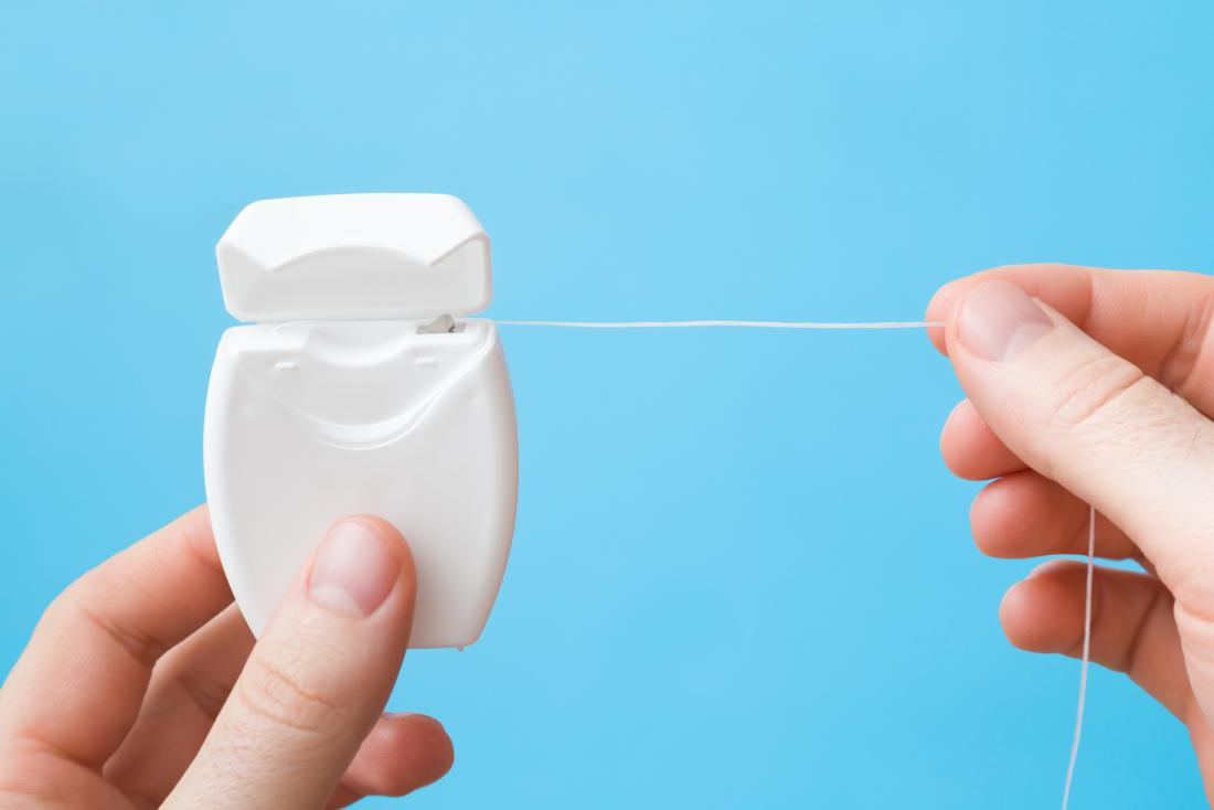 close up of dental floss