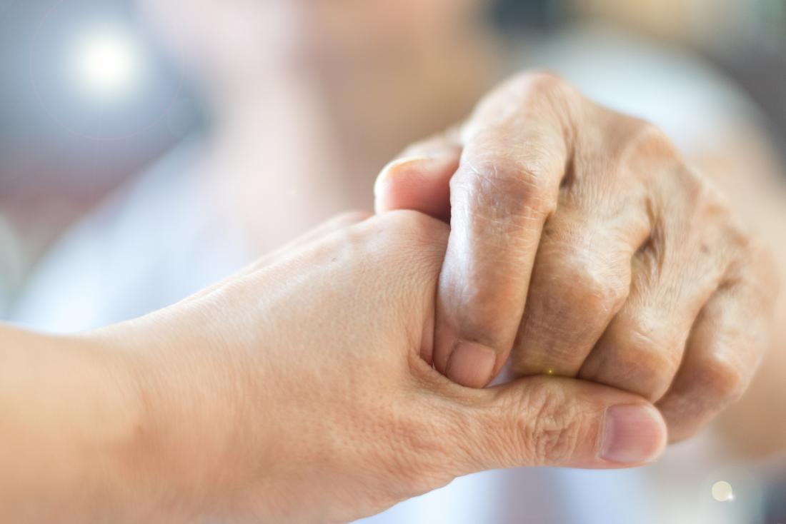 Holding a persons hand due to copd and death