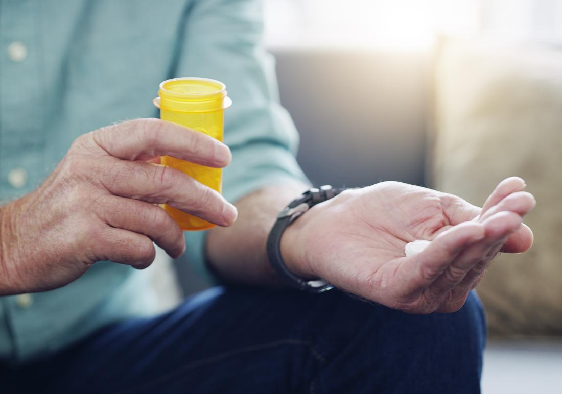 Person putting a pill of minocycline for rheumatoid arthritis in their hand