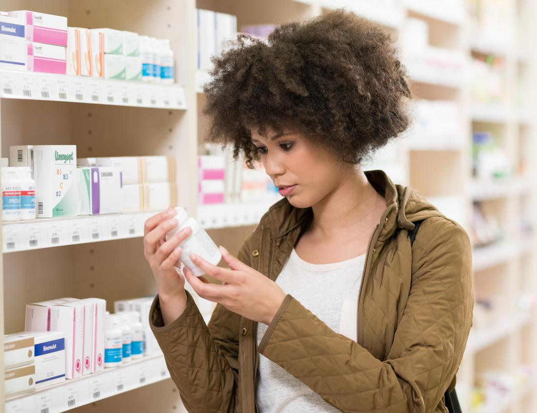 Woman shopping for supplements for anxiety
