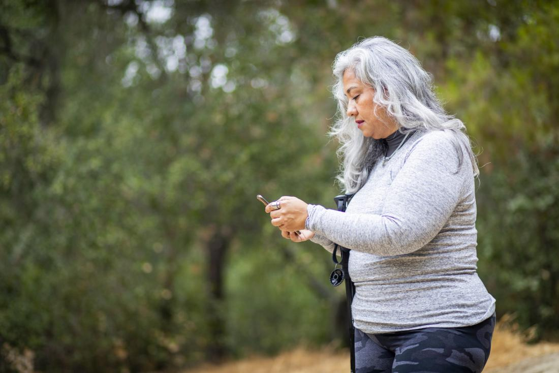 picture of older woman in nature