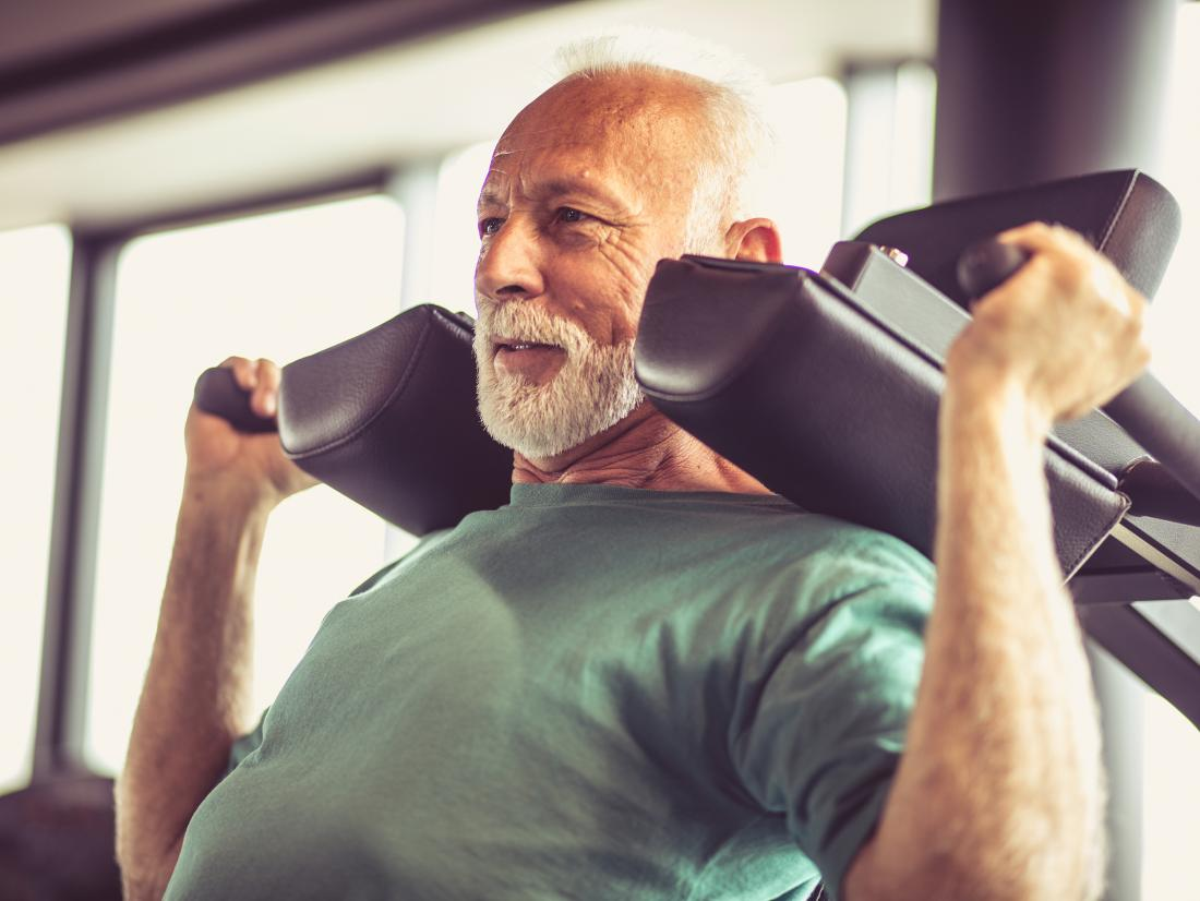 a man who knows how to increase bone density through strength training