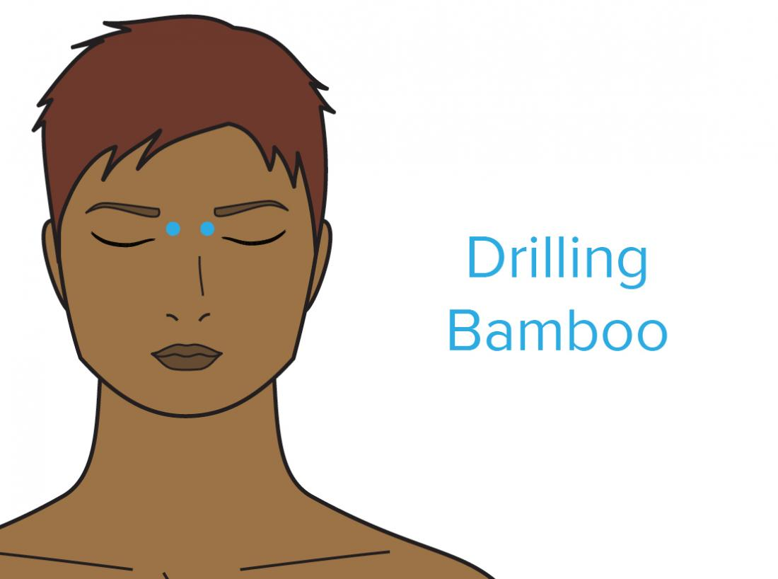 a diagram showing drilling bamboo pressure point