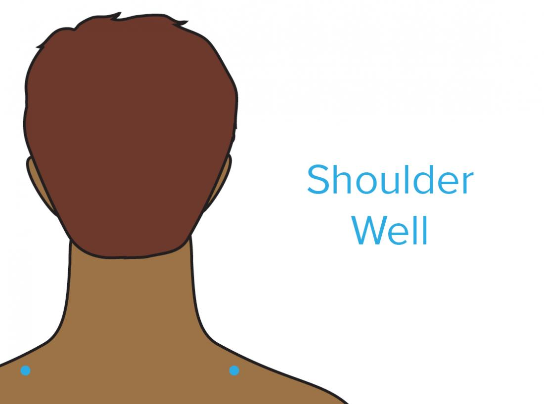 a diagram showing the shoulder well pressure points