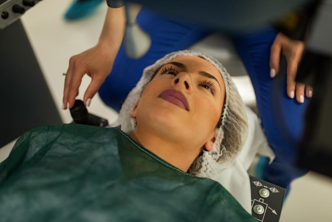 a woman preparing for Cataract surgery