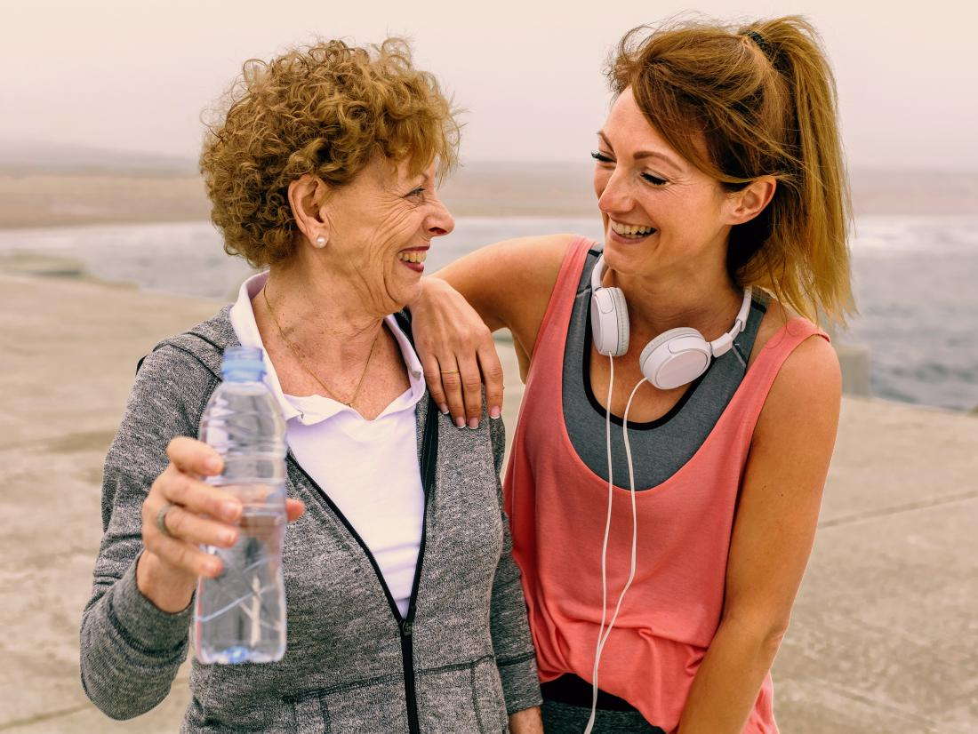 Two woman after exercise to improve their Blood pressure