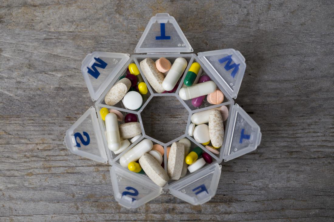 heptagonal pill box