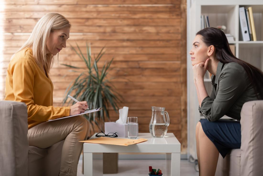 therapist with client