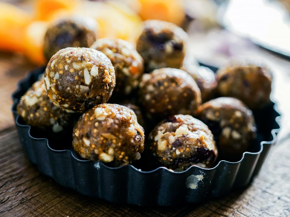 a dish of energy balls
