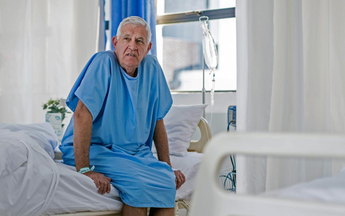 a man awaiting a bone marrow transplant.