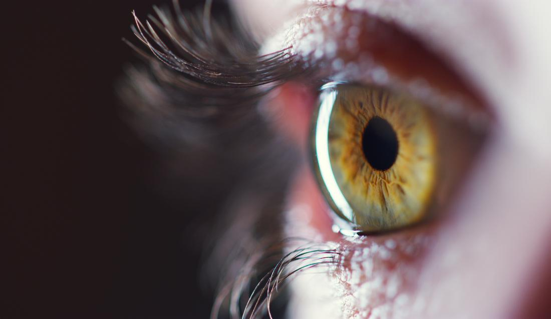 close up of an eye