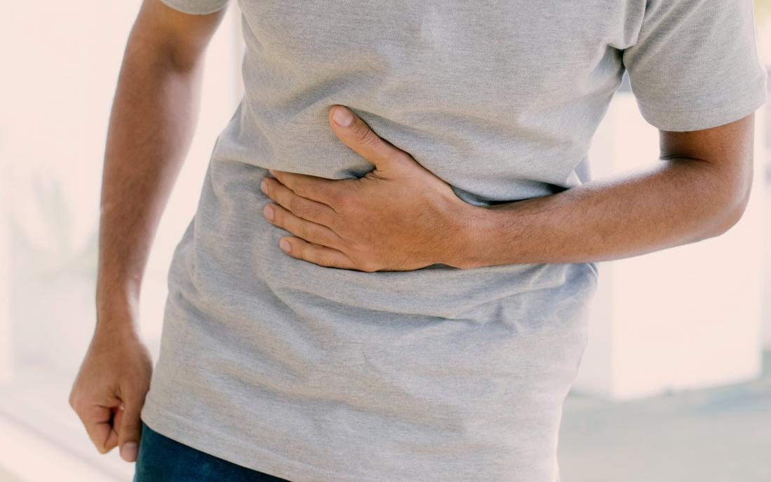 a man with chest pain because he has a Lazy bowel