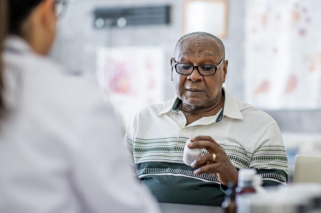 senior checking drug