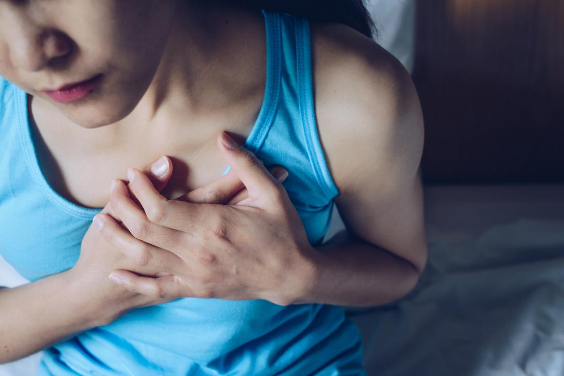 a woman experiencing heart burn due to water brash