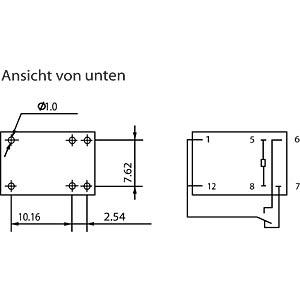 HJR-4102-L 24V: DIL-Miniaturrelais HJR-4102 24V, 1