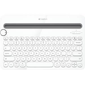 LOGITECH K480 WS: Funk-Tastatur, Bluetooth, weiß, Win