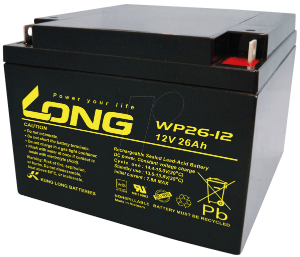 Wp 26-12 Maintenance-free Rechargeable Lead-fleece Battery 26 Ah 12 Reichelt Elektronik