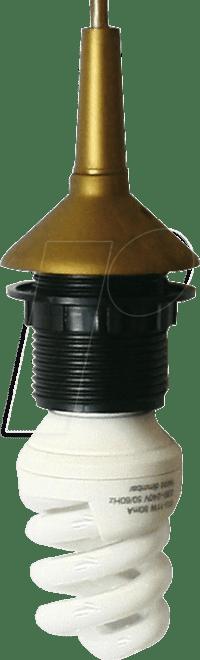 FASSUNG E27-PEGO: Lampeneinzelpendel mit Fassung E27, gold ...