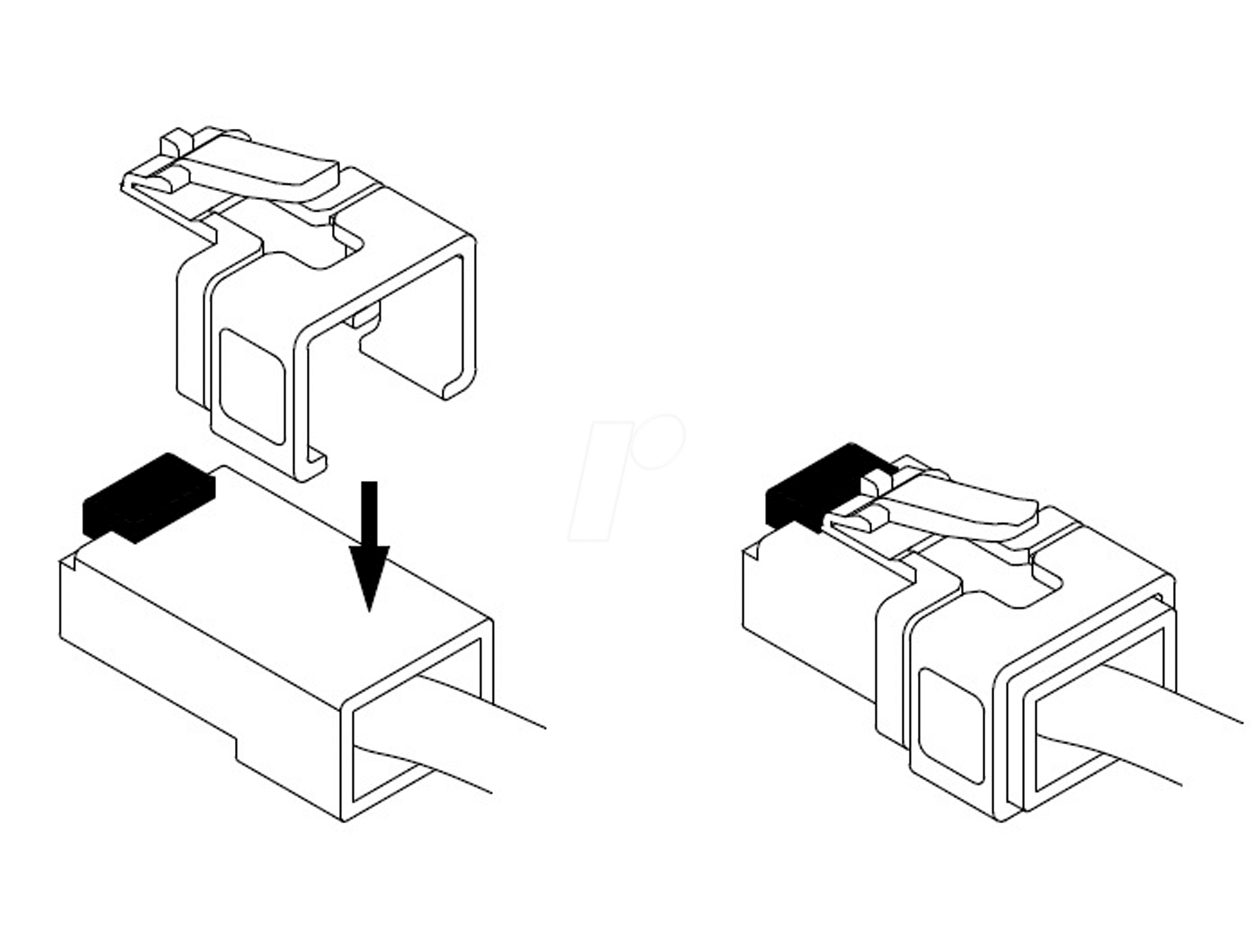 Delock Rj45 Repair Clip Set 1 At Reichelt Elektronik